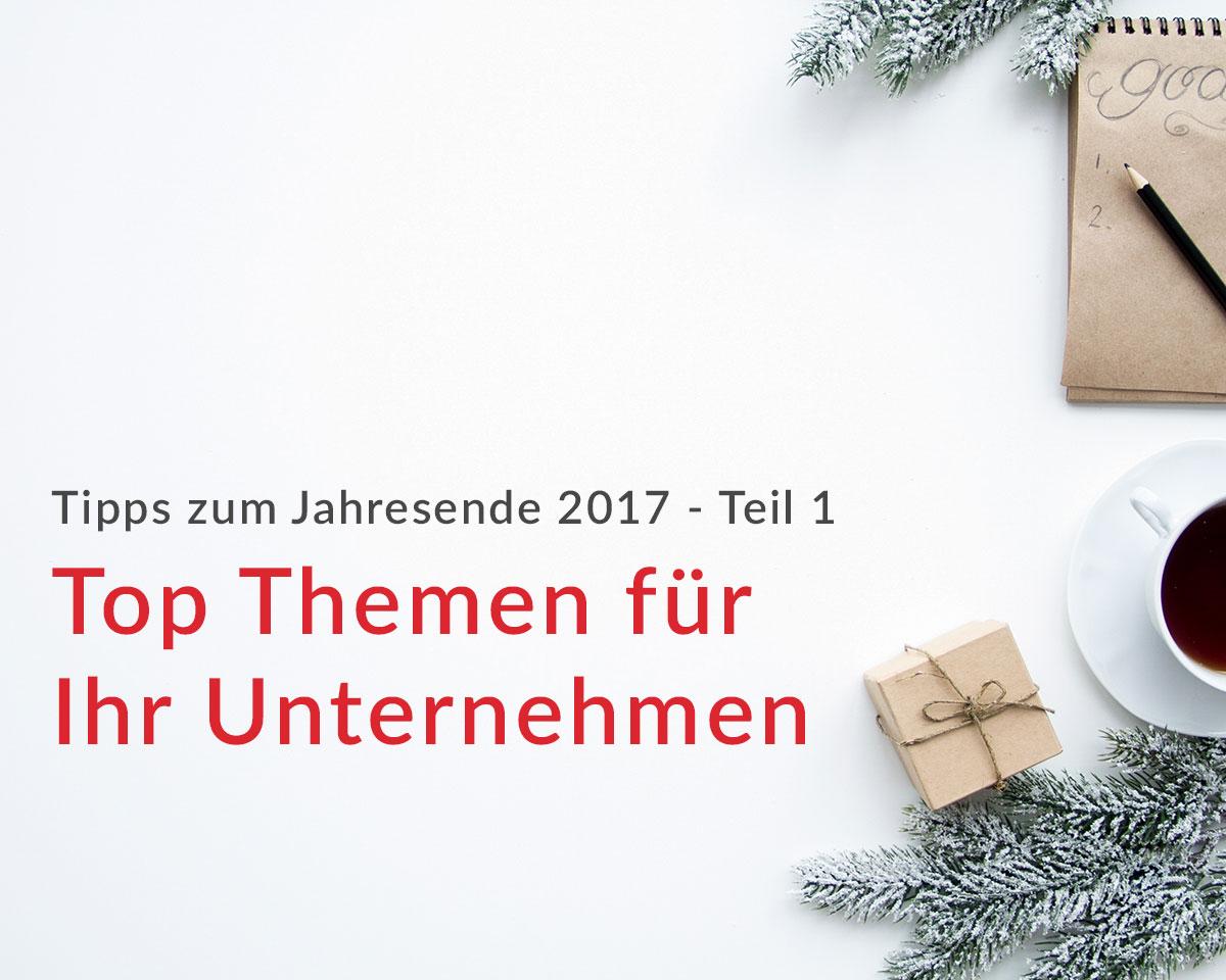 Tipps zum Jahresende 2017